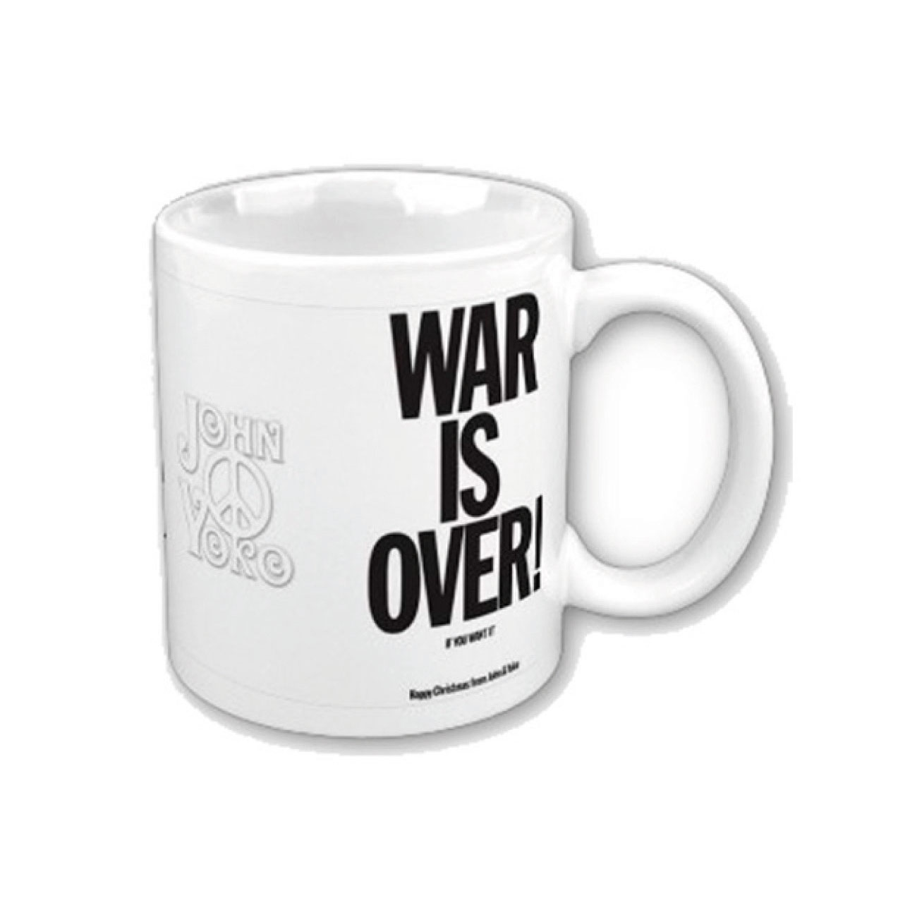 Mug Tasse John Lennon War Is Over. Produit Officiel Emi Music