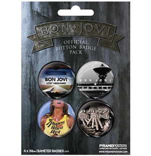 Pack Badge Bon Jovi