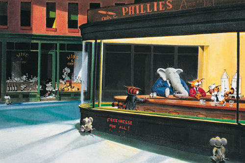 Poster Edward Hopper's Nighthawks