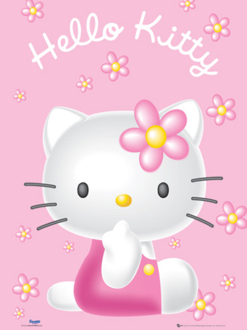 Poster Hello Kitty Pink