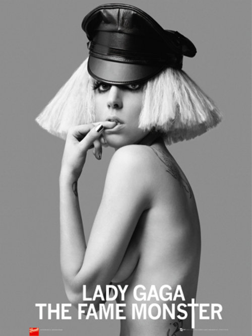 Poster Lady Gaga Leather Cap