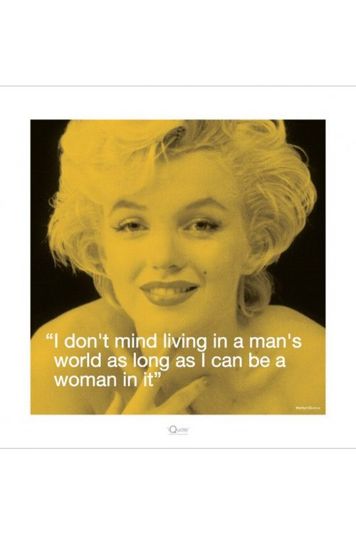 Poster Marilyn Monroe I Quote - Man's World