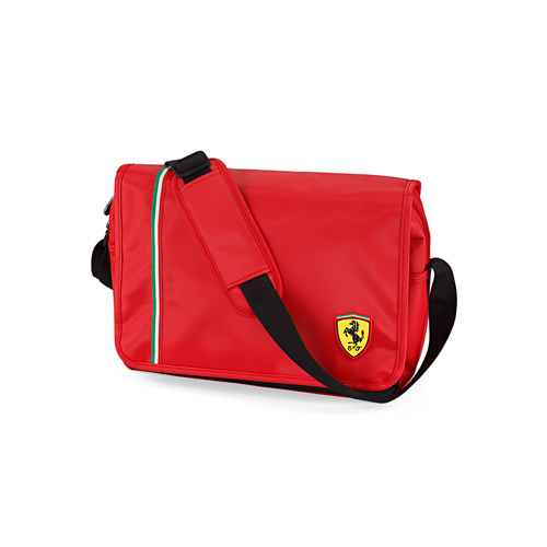 dd3b528386 Sac Messenger Ferrari - Rouge - Boutique Ferrari