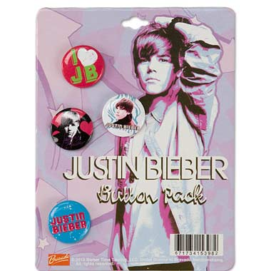Set 4 Badges Justin Bieber I Love