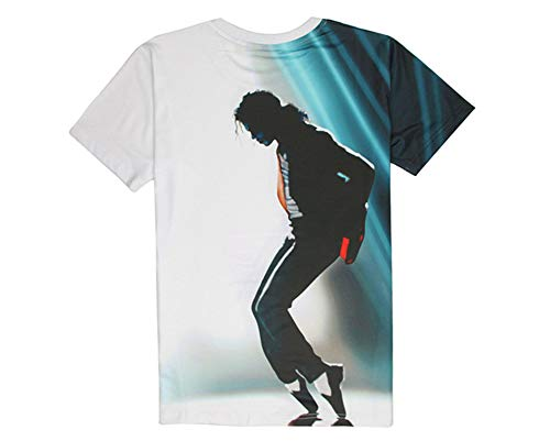 Shuanghao Mj Michael Jackson Space Danse Top Punk Coton Coloré T-shirt T-shirts Top T-shirt Décontracté