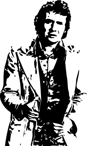 Sticker Michel Sardou - 57x95 Cm