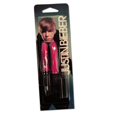 Stylo Plume Rose Justin Bieber