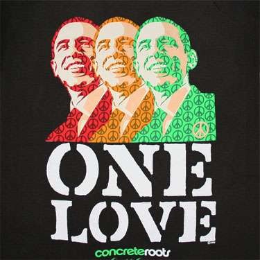 T-shirt Barack Obama - One Love