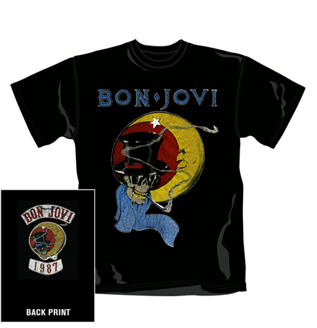 T-shirt Bon Jovi 1987. Produit Officiel Emi Music