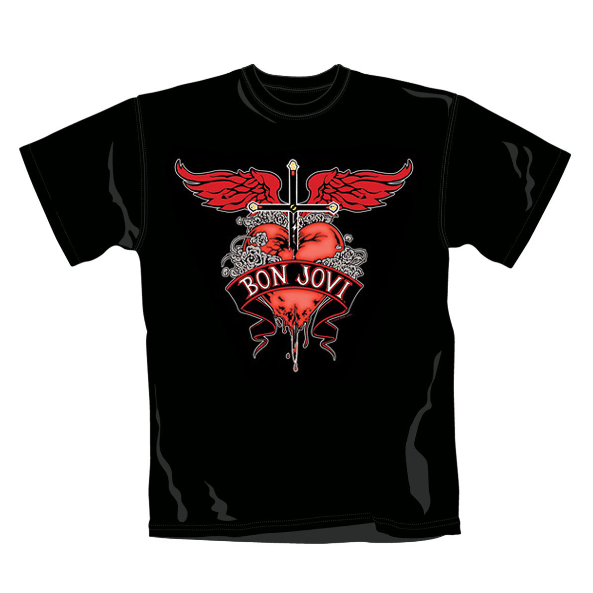 T-shirt Bon Jovi Heart And Dagger. Produit Officiel Emi Music