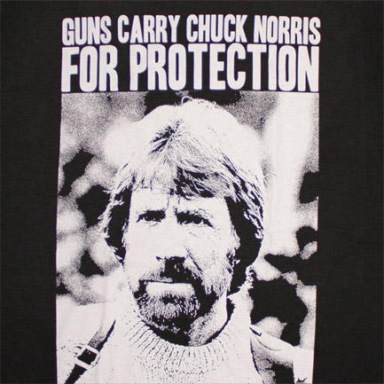 T-shirt Chuck Norris Guns Carry Protection