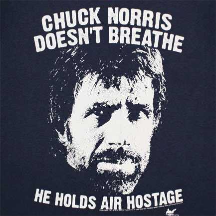 T-shirt Chuck Norris - Holds Air Hostage