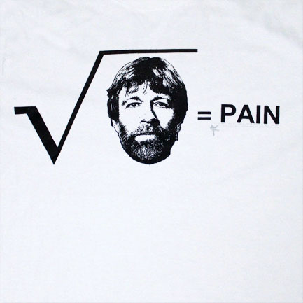 T-shirt Chuck Norris Squared Pain