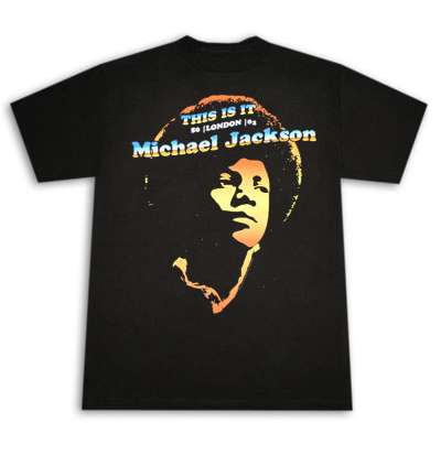 T-shirt Michael Jackson - This Is It