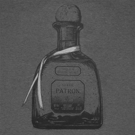 T-shirt Patron Dark Bottle