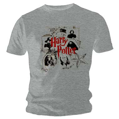 Tee Shirt Gris Enfant Harry Potter Poudlard