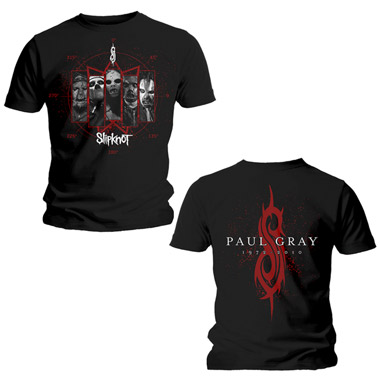 Tee Shirt H Noir Slipknot Paul Gray Tribute