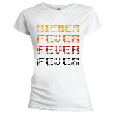 Tee Shirt Justin Bieber Fever Stacked