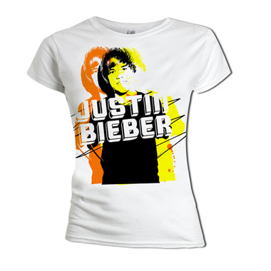Tee Shirt Justin Bieber Yellow Photo