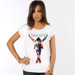 Tee Shirt Femme This Is It Movie Silhouette