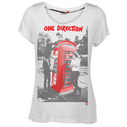 Tee Shirt Pour Femme One Direction - Motif: Album Red Logo