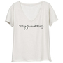 Tee Shirt Col V Signature Serge Gainsbourg