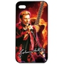 Coque Iphone4 Johnny Hallyday orange