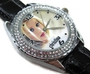 Montre-bracelet Montre Femmes Cadeau Noël Sus279 New Leather 118 Diamond Crystal Watch / Christina Aguilera