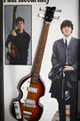 Rgm814 Paul Mccartney The Beatles Miniature Guitar Collection In Shadowbox Frame