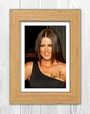 Khloe Kardashian 1 Sp - Signed Autograph Reproduction Photo A4 Print (oak Frame)