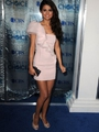 Selena Gomez Sheath / Column One Shoulder Sleeveless Short / Mini  Chiffon Pink Cocktail Dress / Homecoming Dress
