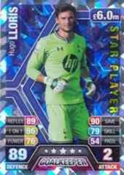 Carte Match Attax Hugo Lloris 2013/2014
