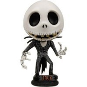 Tim Burton's Nighmare Before Christmas Deformed Head Jack Head Knocker - 8-inch Bobble Head Action Figure