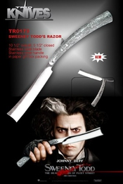 Rasoir Sweeney Todd : Réplique Johnny Depp