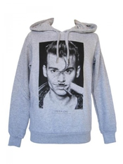 Sweat à Capuche Gris Johnny Depp 10-14 Ans