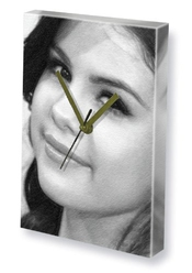 Canvas Clock Selena Gomez