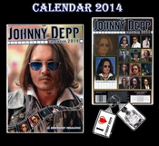 Calendrier Johnny Depp + Porte-clés Johnny Depp