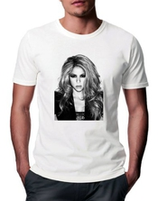T-shirt Shakira Sexy Black And White Portrait - Homme