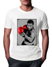 T-shirt Mike Tyson Boxer Red Gloves - Homme