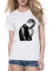 T-shirt Chris Brown Praying - Femme