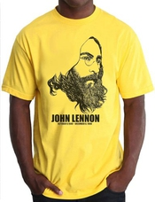 T-shirt John Lennon - Rip - Yoko Ono The Beatles Paul Mccartney Peace