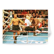Carte De Voeux Mike Tyson Vs Frank Bruno (paquet De 2) - 17,8 X 12,7cm