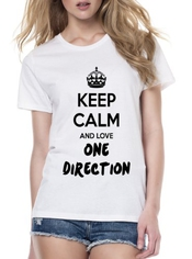 Keep Calm And Love One Direction Femme T-shirt Femme