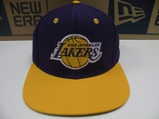 Casquette Los Angeles Lakers Snapback - Officielle Nba - Tissu Fin Immitation Vintage - Violette/or - Portee Par Chris Brown