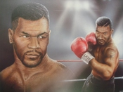 Poster Mike Tyson Iron Par Stuart Coffield 50 X 61cms