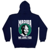 Nelson Mandela Madiba We Love You Sweat A Capuche Avec Un Fermeture Eclair Des Adultes