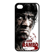 Vintage First Blood John Rambo Sylvester Stallone Cool Design Snap On Soft Rubber Phone Accessory Case Cover For Iphone 4,4s (tpu)