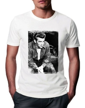 T-shirt James Dean Retro Portrait - Homme