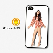 Selena Gomez Stripes Popstar Singer Coque Pour Iphone 4 4s A582