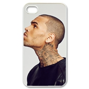 Ctslr Pop Singer Star Series Protective Hard Back Plastic Case Cover For Iphone 4 4s 4g - 1 Pack - Chris Brown - 26